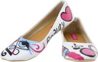 Al Artz Hand Painted Shoes Funky Casual Ballerina For Women(Multicolor)