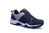 ADZA Casual Sports Running Shoes For Men(Navy, Grey, Red)