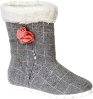Kanabis Trendy and Elegant Boots For Women(Grey)