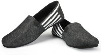Funk Ward Black Denim Casual Shoes For Men(White, Black)