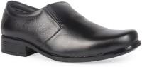 Leather King Archie Black Slip On For Men(Black)