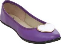 Stylar Heart Punch Bellies For Women(Purple)