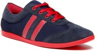 Zapatoz Blue & Red Sneakers For Men(Blue, Red)