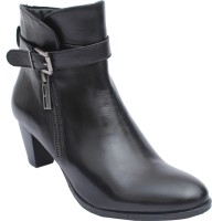 Salt N Pepper 14-787 Rosy Black Boots Boots For Women(Black)