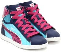 Puma First Round Secret Pok Jr Sports Shoes(Blue)