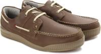 Woodland Men Boat shoes(Olive)