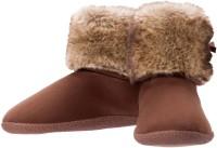 Dearfoams Bootie Boots For Women(Brown)
