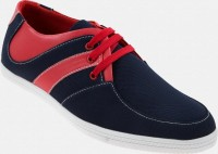 Zapatoz Blue Voguish Casual Shoes For Men(Red, Blue)