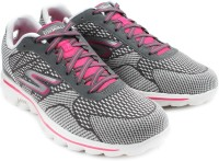 Skechers Go Walk Fuse Walking Shoes For Women(Grey, Pink)