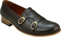 Entice BROWN DOUBLE MONK LOAFERS Loafers(Brown)