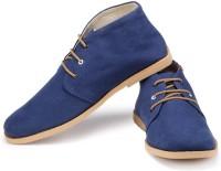 Funk Lozo Navy Blue Canvas Shoes For Men(Blue)