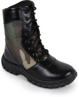 Benera 3 Line Camouflage High Ankle Boots For Men(Multicolor)