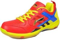 LI-NING Star Icon-2 Badminton Shoes For Men(Red, Yellow)