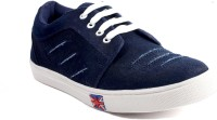Maxwell Fashion Guru Navy Blue Canvas Shoes(Navy)