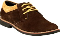 GAI Brown Leather Casual Shoes For Men(Brown)