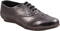 Adorn Stylish and Elegant Lace Up Shoes(Grey)