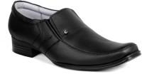 Candle Gold Geniune Leather Slip On Shoe For Men(Black)