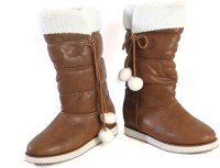 Pinza Brown Christmas Boots For Women(White, Brown)