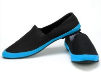 Funk Zoben Black Canvas Shoes For Men(Blue, Black)