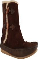 Salt N Pepper 11-383 Ozone Dark Brown Boots For Women(Brown)
