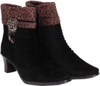 Do Bhai TIGER-LONG-4-BLACK Boots For Women(Black)