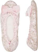 Dearfoams Ballerina Party Wear Shoes For Women(Pink)