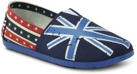 Get Glamr Britain Slip Ons Canvas Shoes For Women(Multicolor)