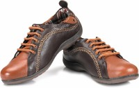 tZaro Sine Curve Corporate Casuals For Men(Tan, Brown)