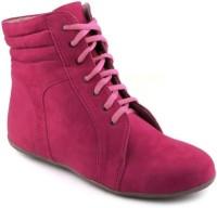 Alexus Boots For Women(Pink)