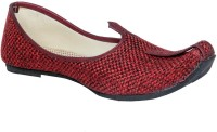 Panahi Maroon Jute Rubber Slip On Jutis Casuals For Men(Maroon)