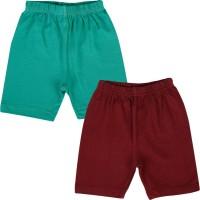 Lula Short For Girls Solid Cotton Linen Blend, Cotton Nylon Blend, Cotton Linen Blend(Green)