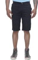 Clickroo Solid Mens Black Chino Shorts
