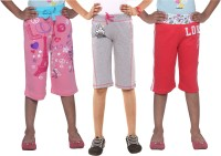 Menthol Short For Girls Cotton(Pink, Pack of 3)