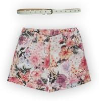 Lilliput Short For Girls Cotton Linen Blend, Cotton Nylon Blend, Cotton Linen Blend(Pink)