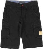 Indian Terrain Short For Solid Cotton Modal Blend(Dark Blue)