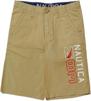 Nautica Short For Boys Cotton(Brown, Pack of 1)