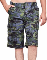 British Terminal Printed Men's Multicolor Bermuda Shorts