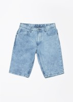United Colors of Benetton Short For Boys Solid Cotton(Blue)