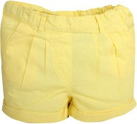 Apricot Kids Short For Girls Polyster(Yellow, Pack of 1)
