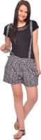 Vvoguish Printed Women's Black Basic Shorts