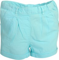 Apricot Kids Short For Girls Polyster(Light Blue, Pack of 1)