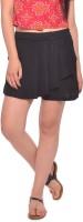 Vvoguish Solid Women's Black Basic Shorts