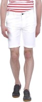 Basics Solid Mens Green Basic Shorts