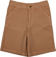 Apricot Kids Short For Boys Printed Polyster(Brown)