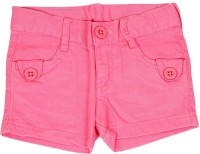 Dreamszone Short For Girls Cotton Linen Blend, Cotton Nylon Blend, Cotton Linen Blend(Pink)