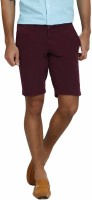 I-Voc Solid Mens Maroon Chino Shorts