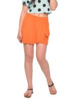 Vvoguish Solid Women's Orange Basic Shorts