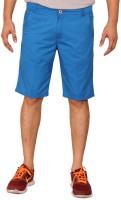 Clickroo Solid Mens Blue Chino Shorts