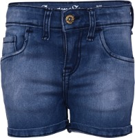 Dreamszone Solid Women's Blue Hotpants