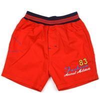 AJ Dezines Short For Boys Self Design Cotton Linen Blend, Nylon Blend(Red, Pack of 1)